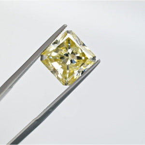 5 Carat Canary Yellow Square Radiant