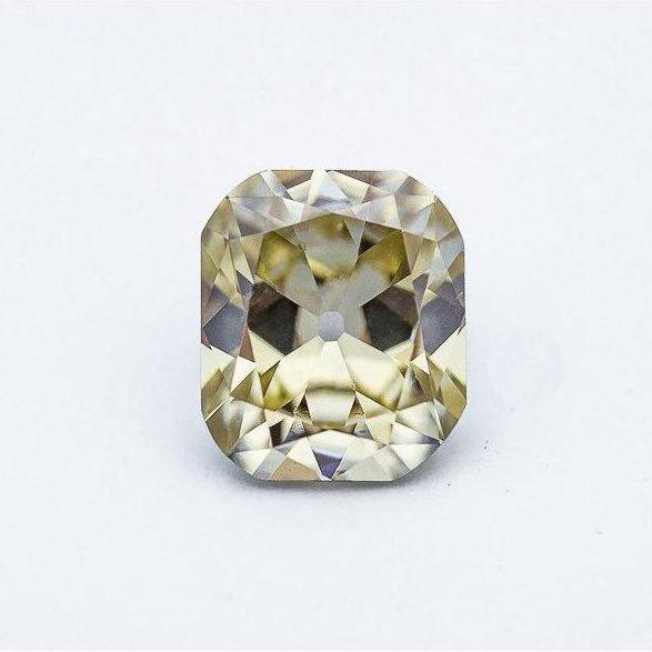 4.41 Carat Canary Yellow Old Mine Cushion
