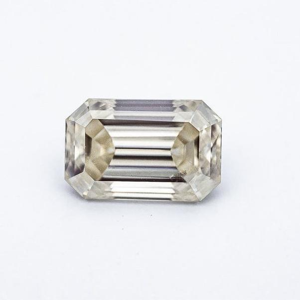 3.61 Carat Vintage White Emerald Cut
