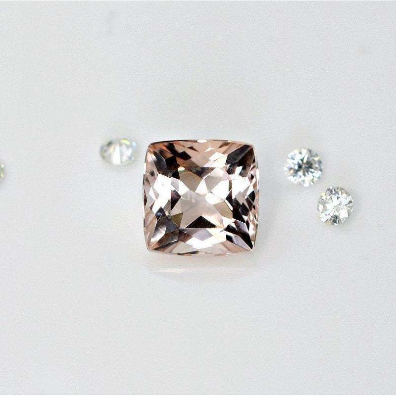 3.30 Carat Icy Pink Square Cushion Cut