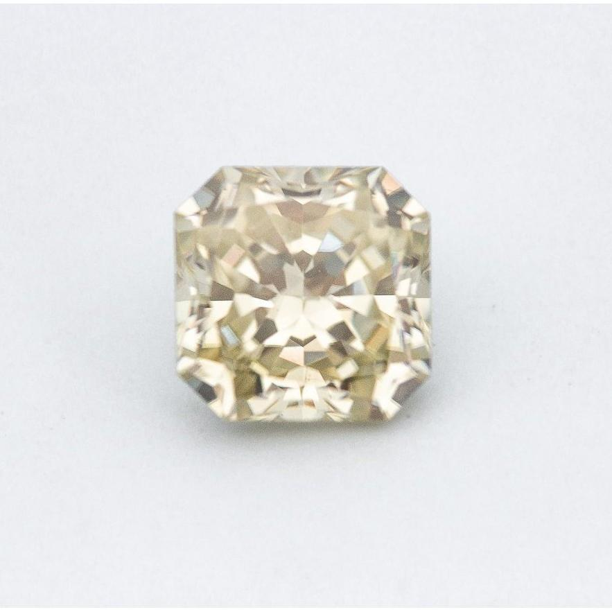 2.2 Carat Canary Yellow Crushed Ice Hybrid Radiant