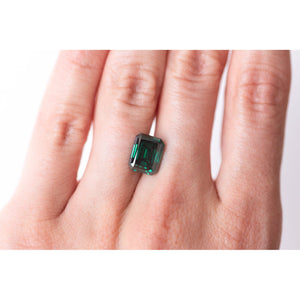 4.2 Carat Dark Green Emerald Cut