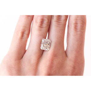 4.55 Carat (10.5x8.5mm) Crushed Ice Radiant Cut Moissanite Loose Stone For Engagement Ring (DE-Color) - IN STOCK!