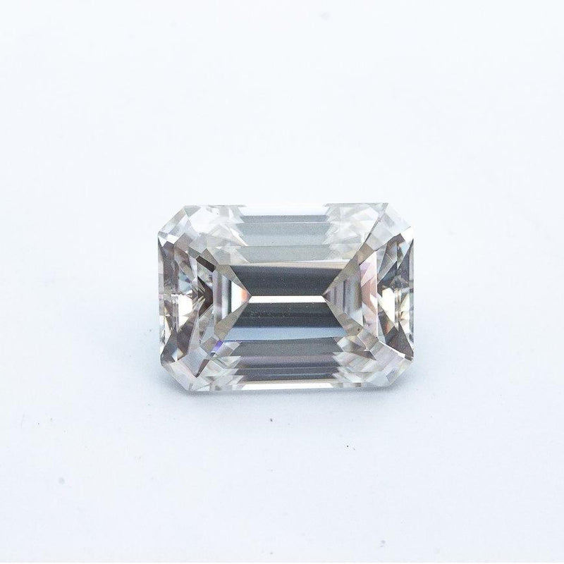 4.2 Carat (11x8mm) Colorless Elongated Emerald Cut Moissanite Loose Stone with Windmills