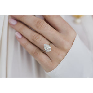 4.1 Carat (12.5x8.5mm) Elongated Crushed Ice Pear Cut Moissanite Loose Stone - IN STOCK!