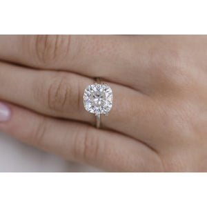 4.6 Carat (9.75mm) Crushed Ice Cushion Cut Moissanite Loose Stone