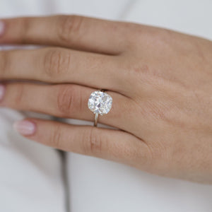 5.7 Carat (11x10mm) Slightly Elongated Old Mine Cushion Cut Moissanite Loose Stone - IN STOCK!