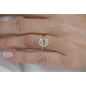 3.1 Carat (9.5x8mm) Vintage White Old Mine Cushion Cut Moissanite Loose Stone with Long, Rounded Cutlet - IN STOCK!