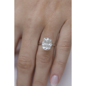 5 Carat (11.25x8.75mm) Elongated Colorless Crushed Ice Cushion Cut Moissanite Loose Stone