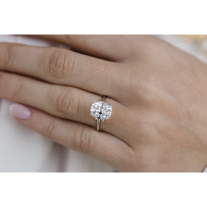 3.6 Carat (10x8mm) Slightly Elongated Old Mine Cushion Cut Moissanite Loose Stone - IN STOCK!