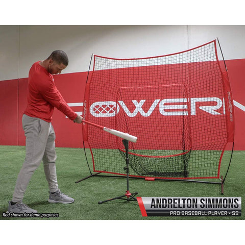 Image of PowerNet Baseball Softball Practice Net 7x7 with Travel Tee