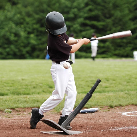 Image of Adjustable Youth Baseball Batting Tee Made from Heavy Rubber - Sporting Goods