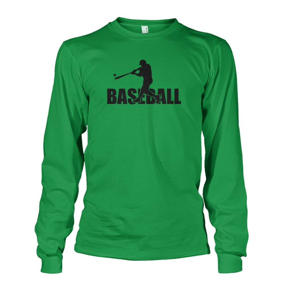 Baseball Home Run Long Sleeve - Irish Green / S / Unisex Long Sleeve - Long Sleeves