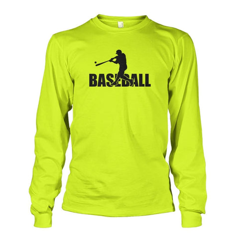 Image of Baseball Home Run Long Sleeve - Safety Green / S / Unisex Long Sleeve - Long Sleeves