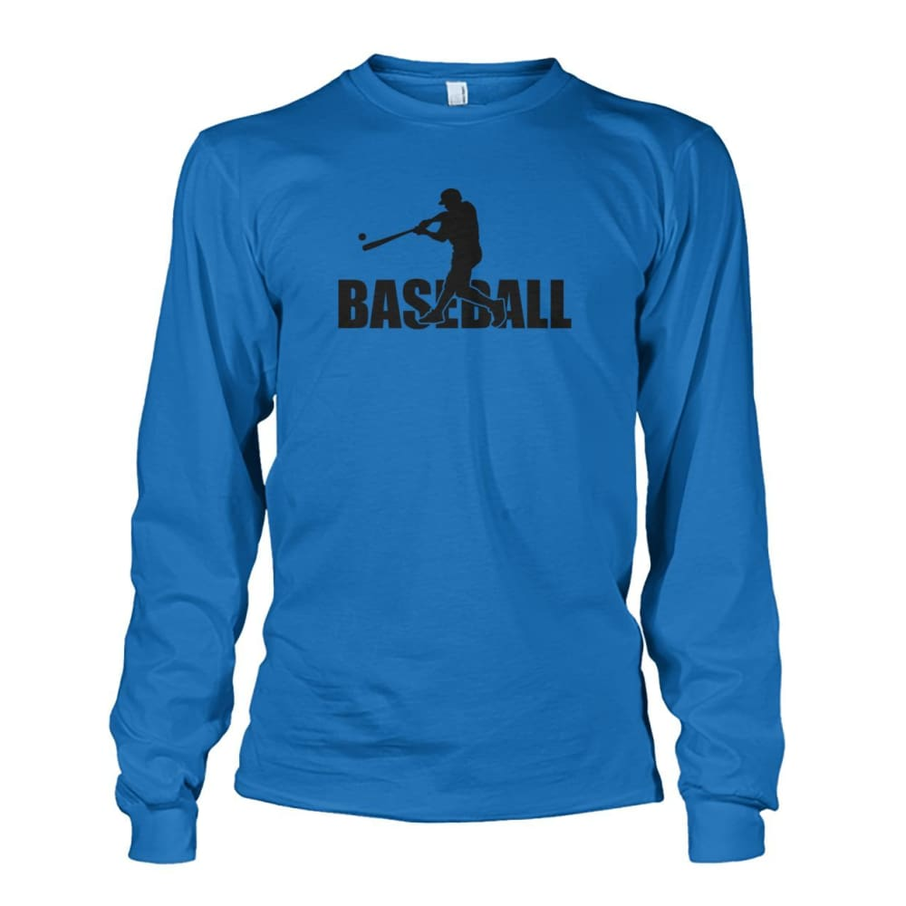 Baseball Home Run Long Sleeve - Sapphire / S / Unisex Long Sleeve - Long Sleeves