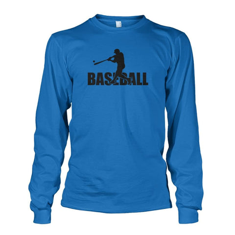 Image of Baseball Home Run Long Sleeve - Sapphire / S / Unisex Long Sleeve - Long Sleeves