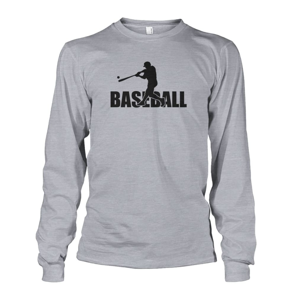 Baseball Home Run Long Sleeve - Sports Grey / S / Unisex Long Sleeve - Long Sleeves