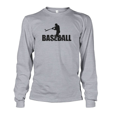 Image of Baseball Home Run Long Sleeve - Sports Grey / S / Unisex Long Sleeve - Long Sleeves