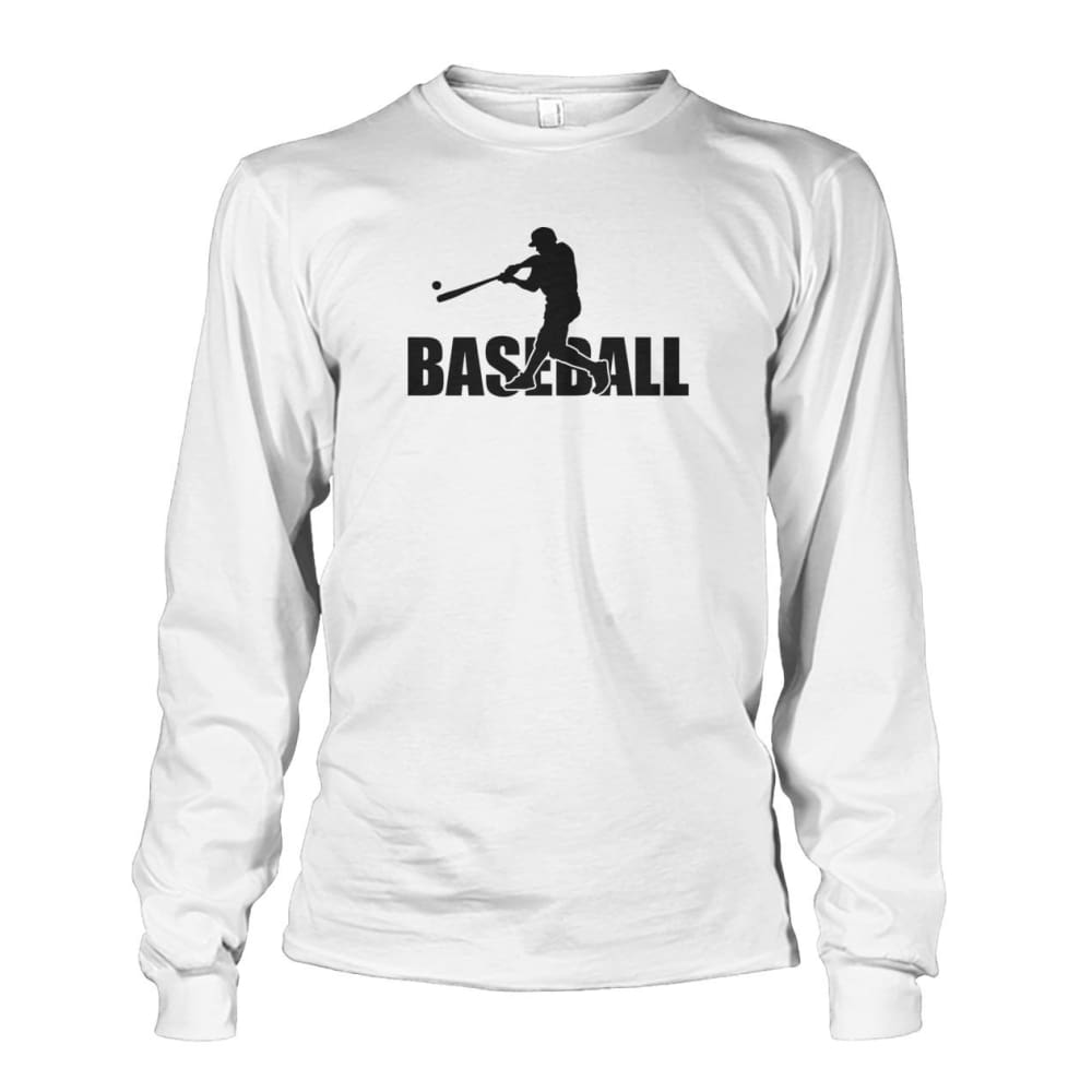 Baseball Home Run Long Sleeve - White / S / Unisex Long Sleeve - Long Sleeves