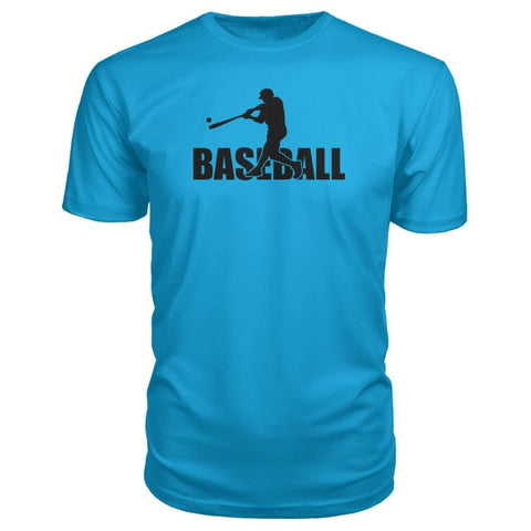 Image of Baseball Home Run Premium Tee - Carribean Blue / S / Premium Unisex Tee - Short Sleeves