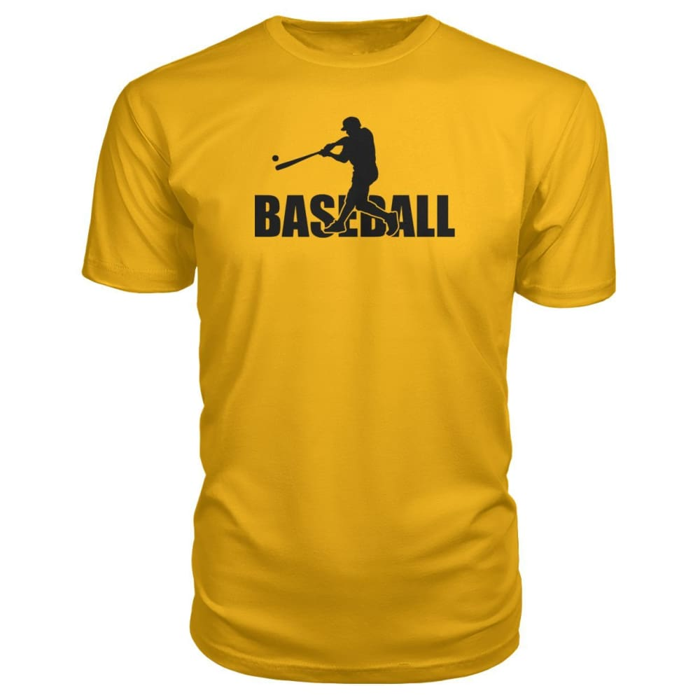 Baseball Home Run Premium Tee - Gold / S / Premium Unisex Tee - Short Sleeves