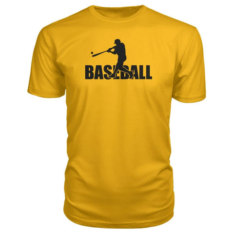 Image of Baseball Home Run Premium Tee - Gold / S / Premium Unisex Tee - Short Sleeves