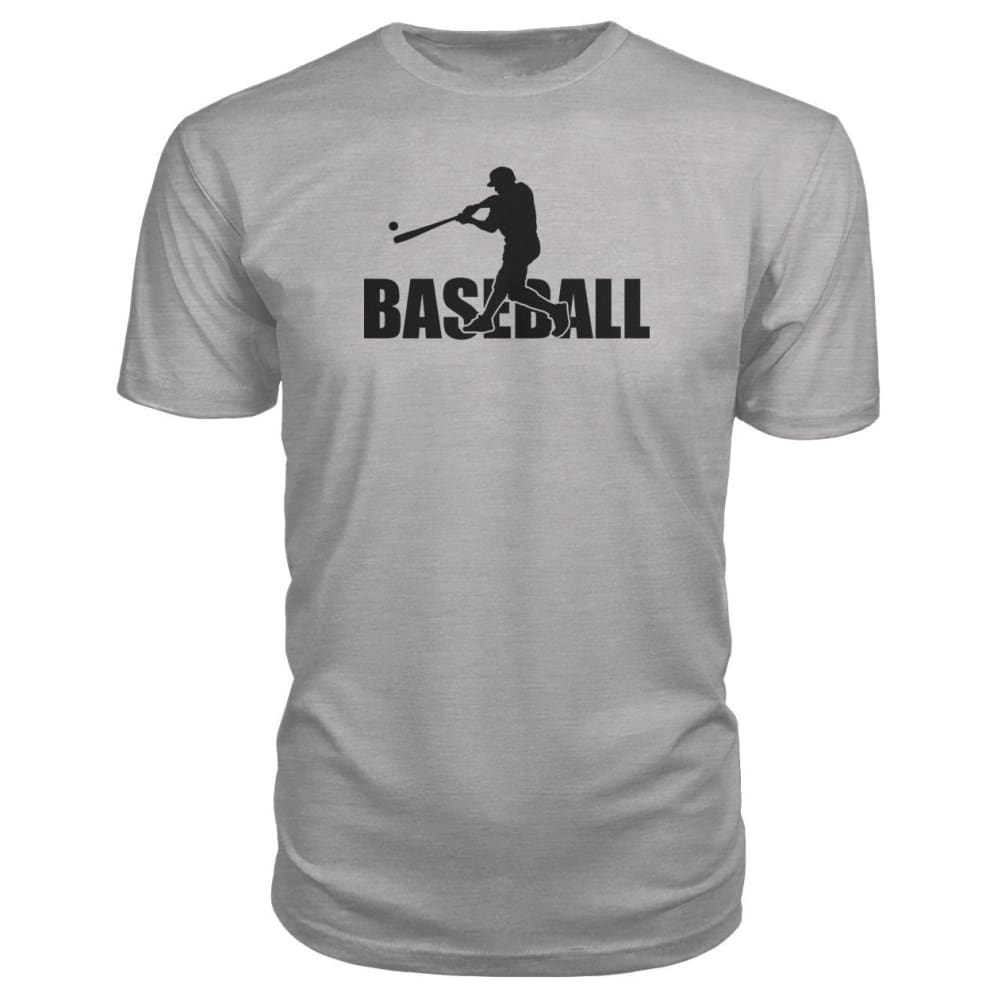 Baseball Home Run Premium Tee - Heather Grey / S / Premium Unisex Tee - Short Sleeves
