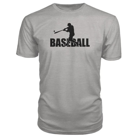Image of Baseball Home Run Premium Tee - Heather Grey / S / Premium Unisex Tee - Short Sleeves