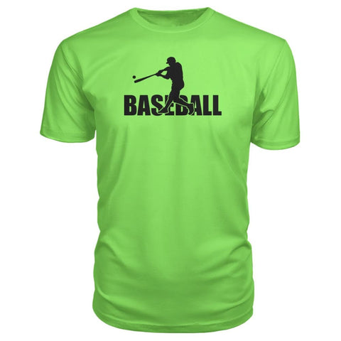 Image of Baseball Home Run Premium Tee - Key Lime / S / Premium Unisex Tee - Short Sleeves