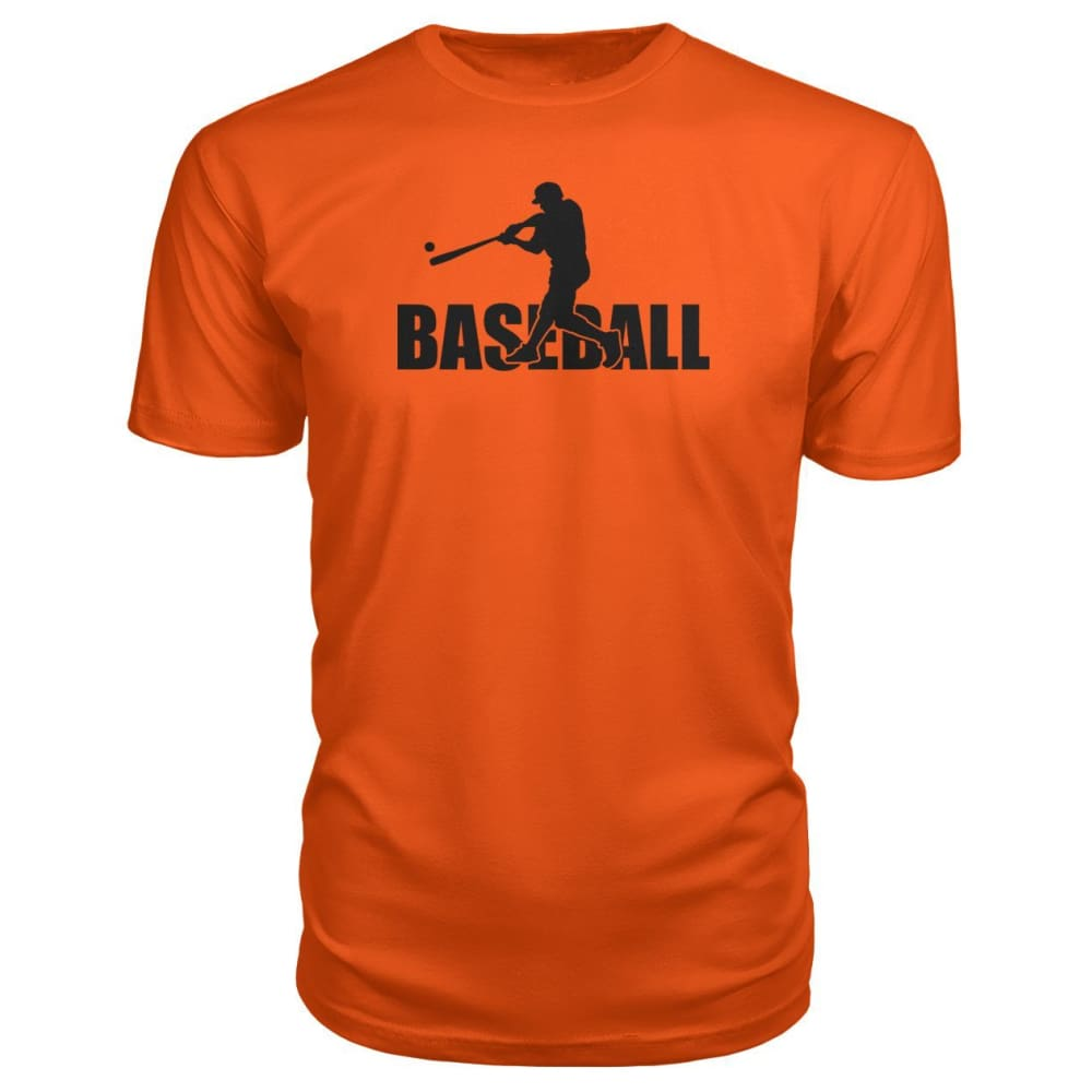Baseball Home Run Premium Tee - Orange / S / Premium Unisex Tee - Short Sleeves