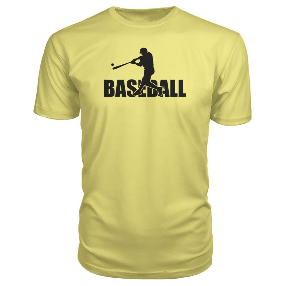 Baseball Home Run Premium Tee - Spring Yellow / S / Premium Unisex Tee - Short Sleeves
