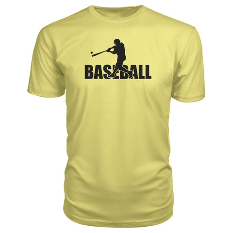 Image of Baseball Home Run Premium Tee - Spring Yellow / S / Premium Unisex Tee - Short Sleeves