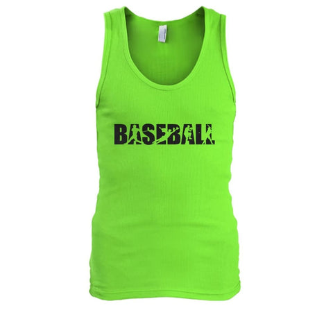 Image of Baseball Tank - Lime / S / Mens Tank Top - Tank Tops