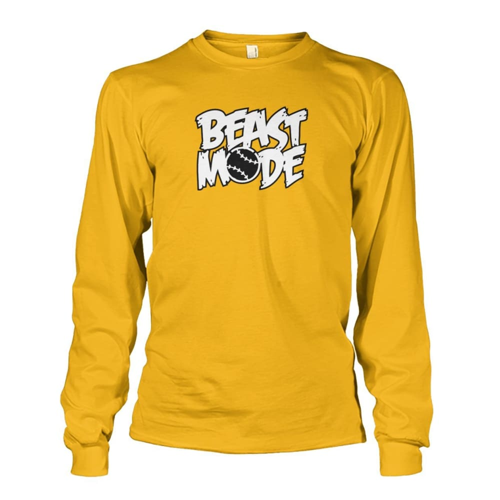 Beast Mode Long Sleeve - Gold / S / Unisex Long Sleeve - Long Sleeves