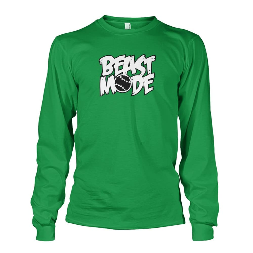 Beast Mode Long Sleeve - Irish Green / S / Unisex Long Sleeve - Long Sleeves