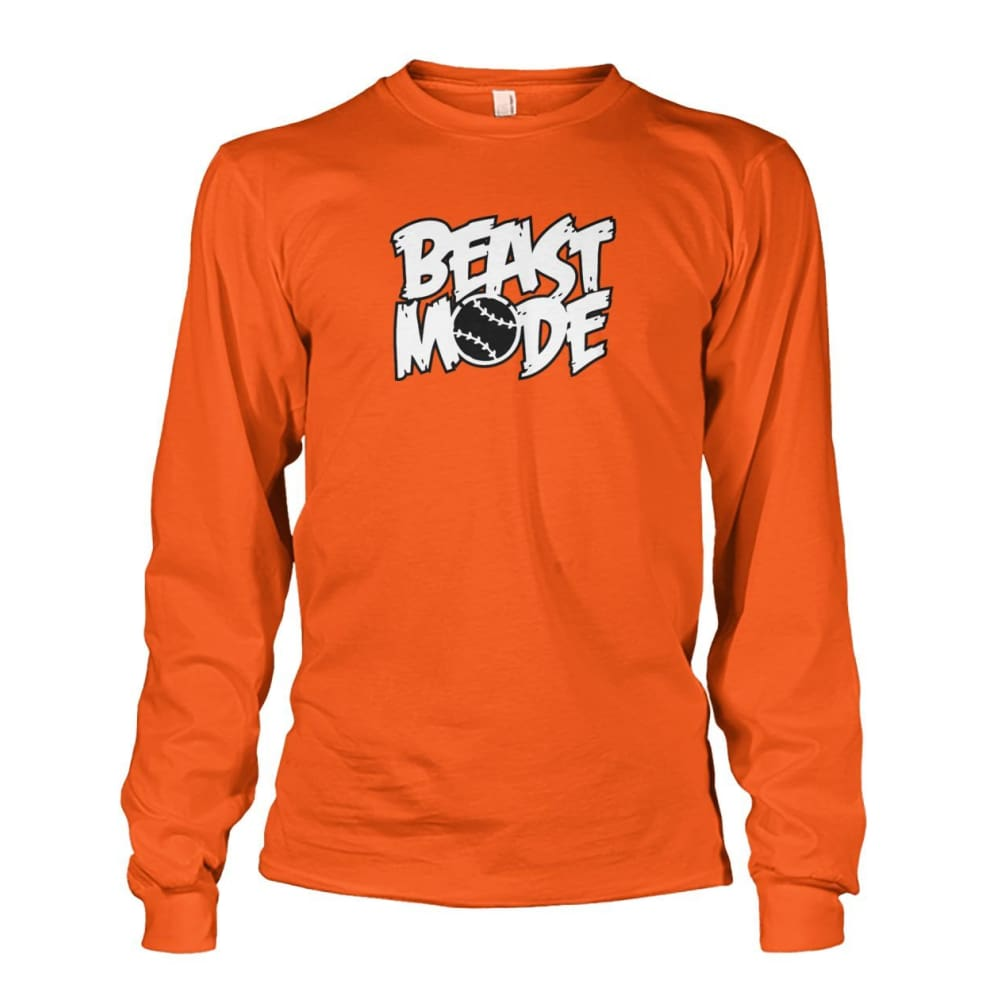 Beast Mode Long Sleeve - Orange / S / Unisex Long Sleeve - Long Sleeves