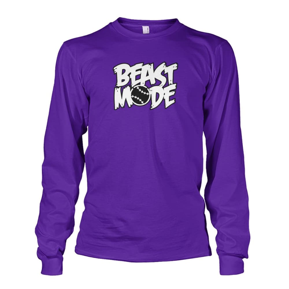 Beast Mode Long Sleeve - Purple / S / Unisex Long Sleeve - Long Sleeves