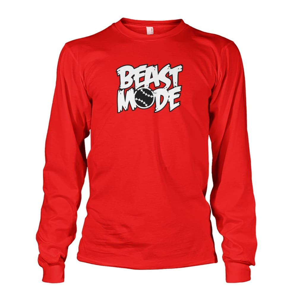 Beast Mode Long Sleeve - Red / S / Unisex Long Sleeve - Long Sleeves