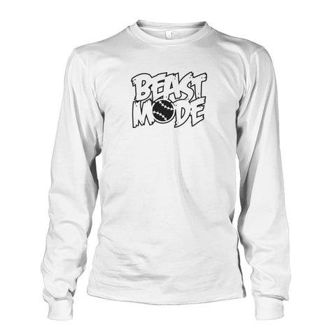 Image of Beast Mode Long Sleeve - White / S / Unisex Long Sleeve - Long Sleeves