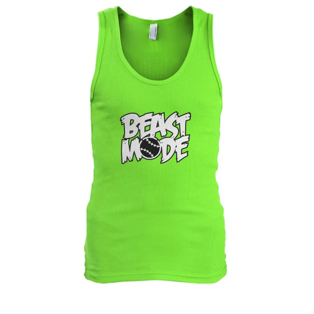 Beast Mode Tank - Lime / S / Mens Tank Top - Tank Tops