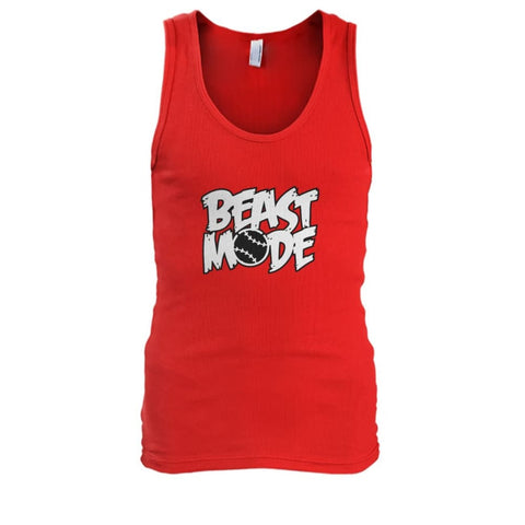 Image of Beast Mode Tank - Red / S / Mens Tank Top - Tank Tops