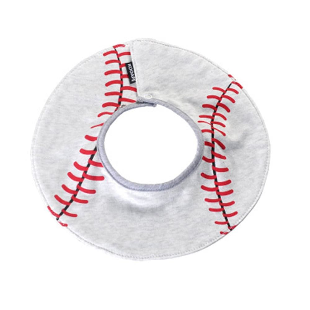 Cotton Waterproof Soft Adjustable 360 Rotating Double Snap-fastener Baby Bib Baseball Pattern - Kid & baby