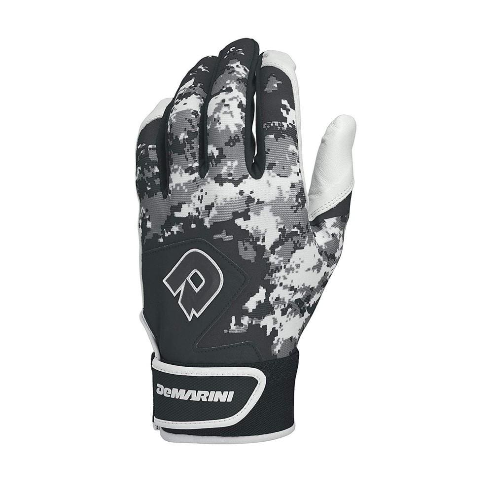Demarini Digi Camo Ii Adult Batting Glove-black Medium - Sporting Goods