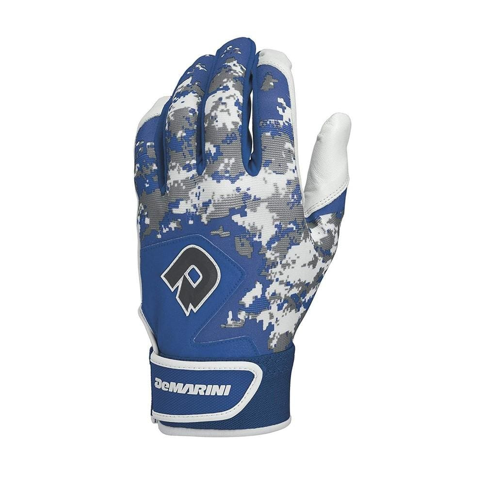 Demarini Digi Camo Ii Youth Batting Glove-royal Large - Sporting Goods