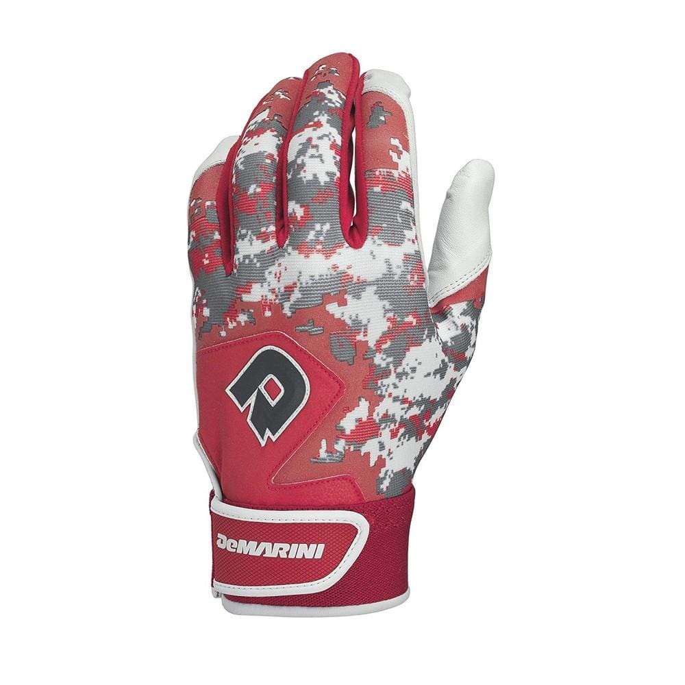 Demarini Digi Camo Ii Youth Batting Glove-scarlet Large - Sporting Goods