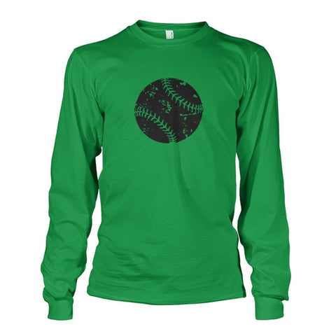 Image of Distressed Baseball Long Sleeve - Irish Green / S / Unisex Long Sleeve - Long Sleeves