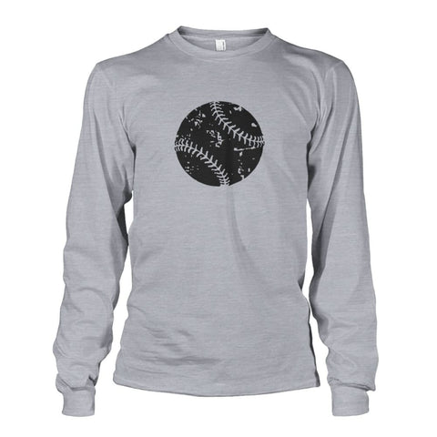 Image of Distressed Baseball Long Sleeve - Sports Grey / S / Unisex Long Sleeve - Long Sleeves