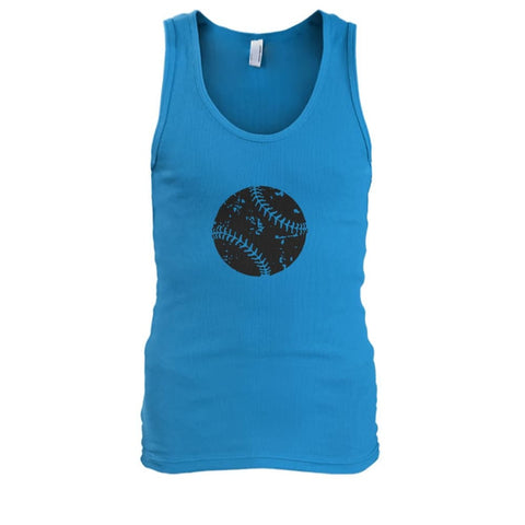 Image of Distressed Baseball Tank - Sapphire / S / Mens Tank Top - Tank Tops