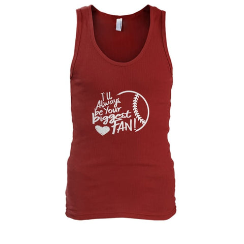 Image of Ill Always Be Your Biggest Fan Tank - Cardinal Red / S / Mens Tank Top - Tank Tops