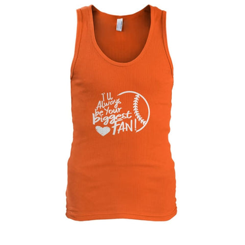 Image of Ill Always Be Your Biggest Fan Tank - Orange / S / Mens Tank Top - Tank Tops